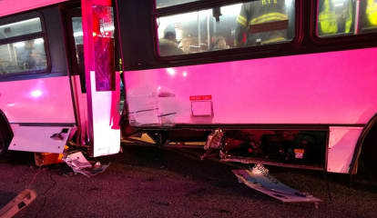 3 Hospitalized After NJ Transit Bus Slams Hackensack Sears Light Post