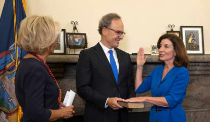 'Rhymes With Local': Kathy Hochul Takes Command As NY's First Female Governor