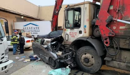 One Critical Following Head-On Route 59 Garbage Truck Crash In Hillburn