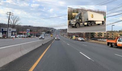 EXCLUSIVE PHOTOS: Route 17 Shut Down After Tractor-Trailer Yanks Down Wires In Ramsey