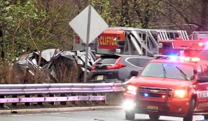 Driver With Serious Head Injury Freed In Route 46 Rollover Crash In Clifton