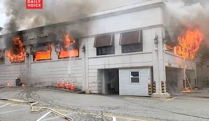 Firefighters Battle Fourth Of July Blaze At Former Diner Near GWB In Fort Lee