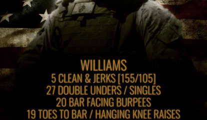 CrossFit Gym 'WILLIAMS' Workout Honors Late Elmwood Park Marine