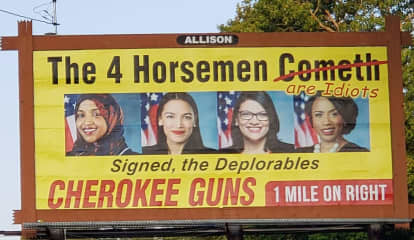 Gun Shop Billboard Mocks Ocasio-Cortez, Fellow 'Squad' Members, Stirs Social Media Firestorm