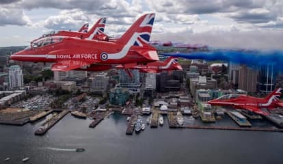 Red, Blue Planes To Fly Over Hudson River In British-American Air Show