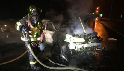 Motorist Flees Scene After Vehicle Fire Forces Closure Of I-95 Stretch In Fairfield County