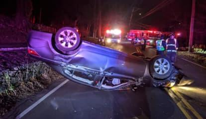 One Injured In Westport Rollover Crash