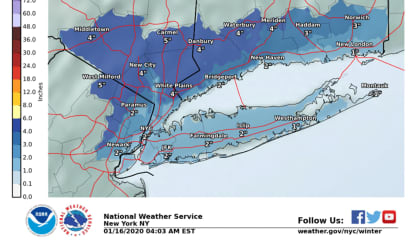 WEEKEND STORM UPDATE: 2 To 4 Inches Of Snow Forecast Across North Jersey