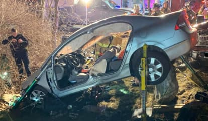 Two Hospitalized After Crash On Candlewood Lake Road