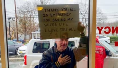 Photo Of Man Thanking Morristown Health Care Workers For Saving Wife's Life Goes Viral