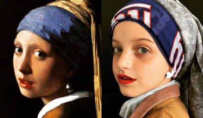 Glen Rock Girl Perfectly Recreates 'Girl With A Pearl Earring' For Art Class