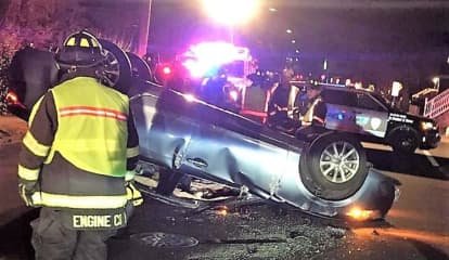 Car Flips In Saddle Brook, Driver Charged With DWI