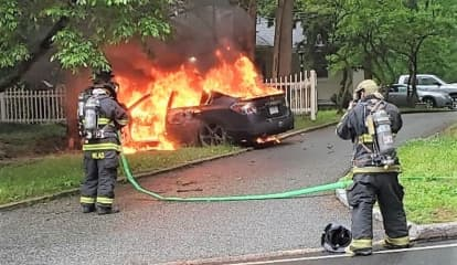 Car Hits Tree, Bursts Into Flames Off Route 17
