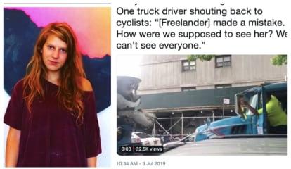 WATCH: Screaming Match Erupts At Vigil For Ridgewood's Devra Freelander Killed By Cement Truck