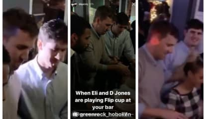 WATCH: Giants QBs Eli Manning, Daniel Jones Celebrate Win At Hoboken Bar