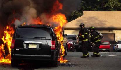 Fire Destroys Ridgewood Taxi