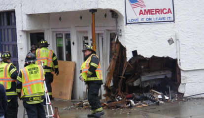 Driver Reaching For Dropped Cell Phone Slams Van Into Waldwick Service Station, Police Charge