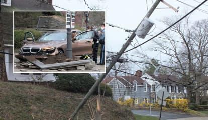 BMW Snaps Ridgewood Utility Pole