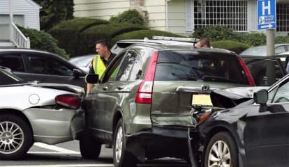 Chain-Reaction Ridgewood Crash Sends 3 To Hospital