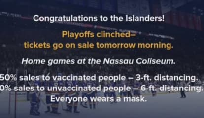 COVID-19: Nassau Coliseum Will Have Fully Vaccinated Fan Section For Isles' Playoff Games