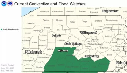 National Weather Service Issues Flood Watch For Central Pennsylvania