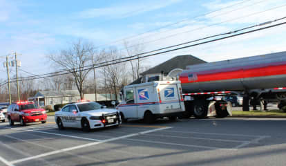 Car, Tractor-Trailer Crash Causes Fuel Leak, Snarls Route 6 Traffic