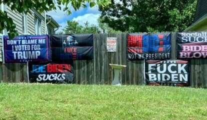 Profanity Laced Anti-Biden Flags Cause Controversy In NJ Town