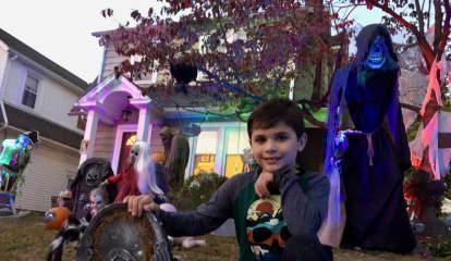PHOTOS: Boy Transforms Westwood Yard Into Haunted Halloween Heaven