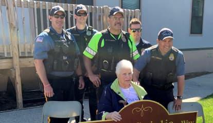 51 Years Of Service: Police Dedicate Street To Park Ridge Crossing Guard