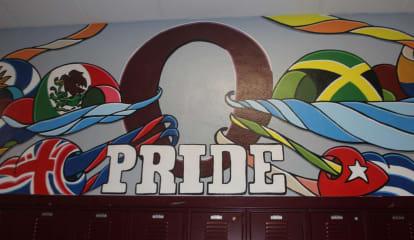 Newburgh Artist Designs Colorful 'Pride' Mural For Area High School