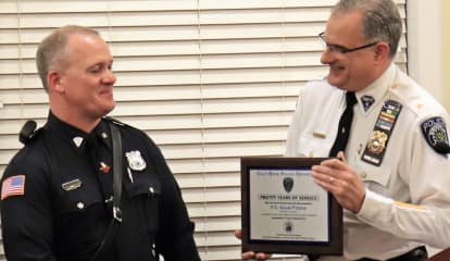 Glen Rock Honors Police Motorcycle Unit's Founder, Retired Sergeant Turned Crossing Guard