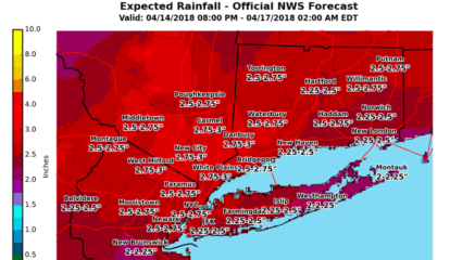 Stormy Sunday, Monday: Cold With Rainfall Up To 3 Inches, Coastal Flooding
