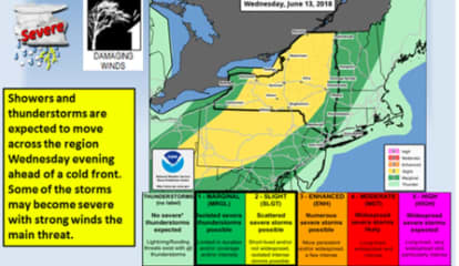 Severe Weather Threat For Area With Gusty Storms Possible