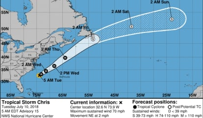 Chris Gains Strength As It Treks Toward Northeast, Nears Hurricane Status