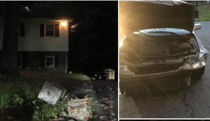Teen Trio Caught After Fleeing Car Crash Into Pillar Of Airmont Home