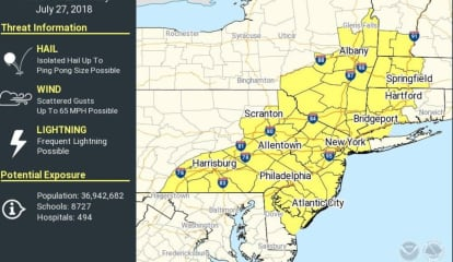 Severe Thunderstorm Watch In Effect With Heavy Rain, Gusty Winds, Hail Possible