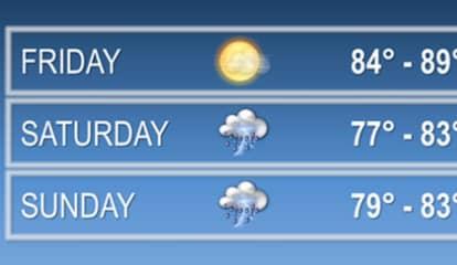Heavy Rain, Thunderstorms, Showers Will Dampen Weekend