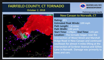Confirmed Tornado Touched Down In New Canaan, Norwalk