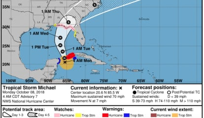 Tropical Storm Michael, Heading North, Could Become Category 2 Hurricane