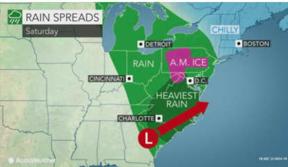 Storm System Will Sweep Through Area With Up To 2 Inches Of Rainfall Possible