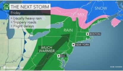 Post-Christmas Storm: Rain, Snow, Sleet, Then Big Change In Weather Pattern