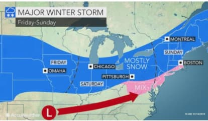 Area Could See Foot Of Snow This Weekend After Separate Storm Brings Up To 3 Inches During Week