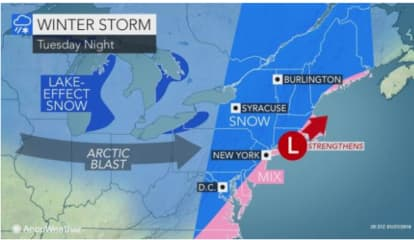 Projected Snowfall Totals Released For Storm That Will Lead To Freeze-Up In Area