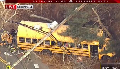 Long Hill School Bus Driver Cited In Crash That Downed Power Lines, Briefly Trapped Students