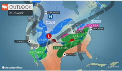 Springlike Stretch Will Be Followed By Midweek Storm Bringing Freezing Rain To Parts Of Area