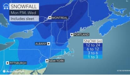New Projected Snowfall Totals Released For Storm That Will Sweep Through Morris County