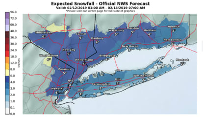 Here Are Projected Snowfall Totals For Storm That Will Sweep Through Area