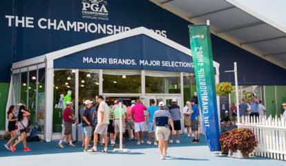 Huge PGA Championship Merchandise Tent Opening Early In Bethpage