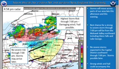Severe Thunderstorm Watch Extended To More Counties In Area