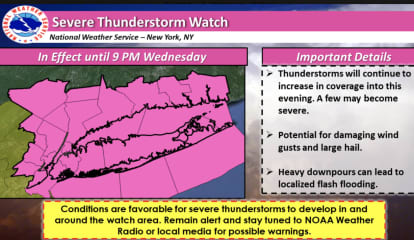 Severe Thunderstorm Watch Now In Effect: Drenching Rain, Damaging Winds On Way